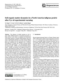 Soil Organic Matter Dynamics in a North ... by Cheng, X.