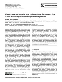 Monoterpene and Sesquiterpene Emissions ... by Staudt, M.