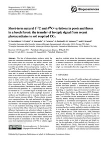Short-term Natural Δ13C and Δ18O Variati... by Gavrichkova, O.