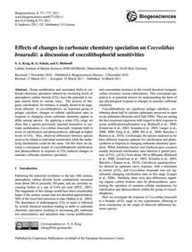 Effects of Changes in Carbonate Chemistr... by Krug, S. A.