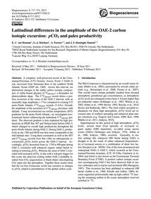 Latitudinal Differences in the Amplitude... by Van Bentum, E. C.
