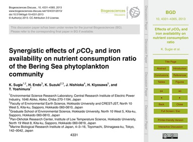Synergistic Effects of PCo2 and Iron Ava... by Sugie, K.