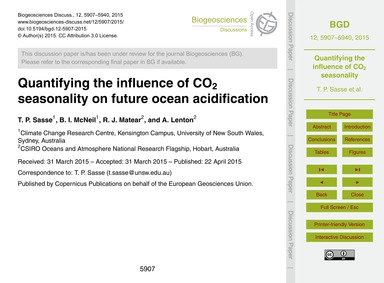 Quantifying the Influence of Co<Sub>2</S... by Sasse, T. P.