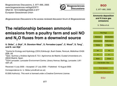 The Relationship Between Ammonia Emissio... by Skiba, U.