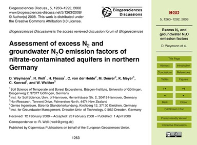 Assessment of Excess N<Sub>2</Sub> and G... by Weymann, D.