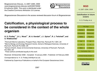 Calcification, a Physiological Process t... by Findlay, H. S.