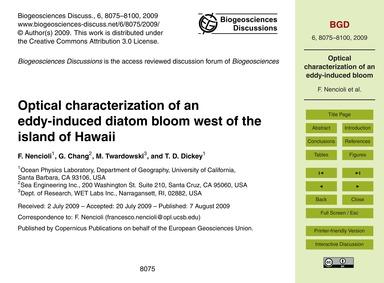 Optical Characterization of an Eddy-indu... by Nencioli, F.