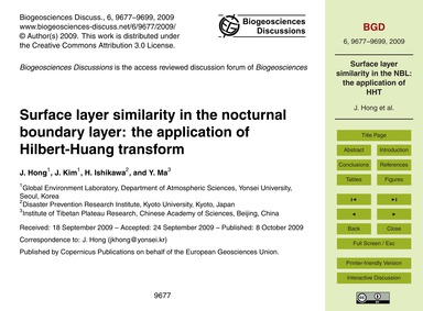 Surface Layer Similarity in the Nocturna... by Hong, J.
