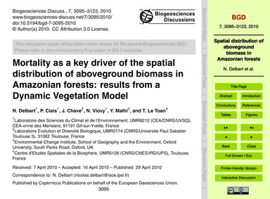 Mortality as a Key Driver of the Spatial... by Delbart, N.