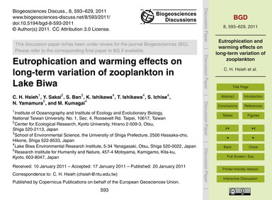 Eutrophication and Warming Effects on Lo... by Hsieh, C. H.
