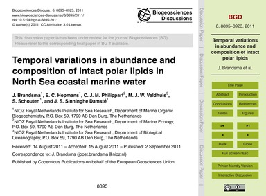 Temporal Variations in Abundance and Com... by Brandsma, J.