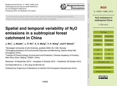Spatial and Temporal Variability of N<Su... by Zhu, J.