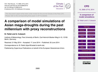 A Comparison of Model Simulations of Asi... by Fallah, B.