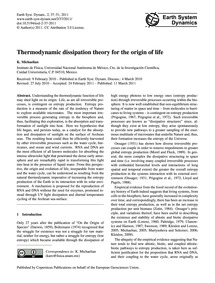 Thermodynamic Dissipation Theory for the... by Michaelian, K.