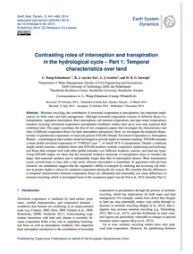 Contrasting Roles of Interception and Tr... by Wang-erlandsson, L.
