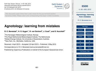 Agnotology: Learning from Mistakes : Vol... by Benestad, R. E.