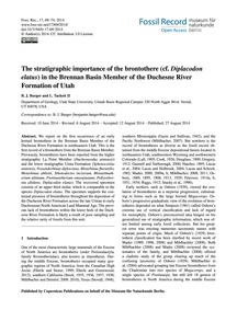 The Stratigraphic Importance of the Bron... by Burger, B. J.