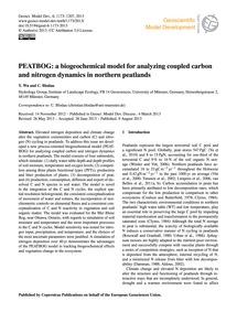 Peatbog: a Biogeochemical Model for Anal... by Wu, Y.