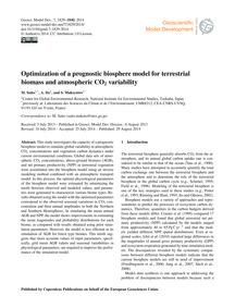 Optimization of a Prognostic Biosphere M... by Saito, M.