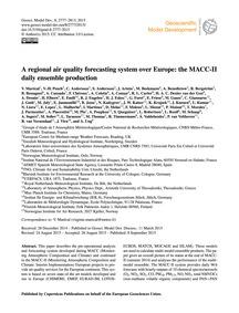 A Regional Air Quality Forecasting Syste... by Marécal, V.
