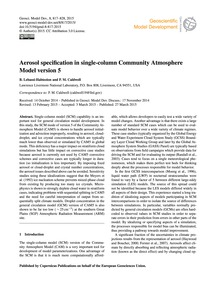Aerosol Specification in Single-column C... by Lebassi-habtezion, B.
