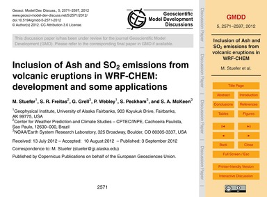 Inclusion of Ash and So<Sub>2</Sub> Emis... by Stuefer, M.