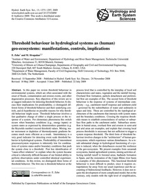 Threshold Behaviour in Hydrological Syst... by Zehe, E.
