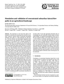 Simulation and Validation of Concentrate... by Zhu, Q.