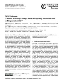 Hess Opinions: Climate, Hydrology, Energ... by Koutsoyiannis, D.