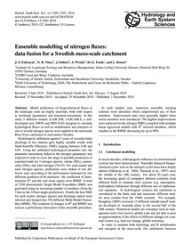 Ensemble Modelling of Nitrogen Fluxes: D... by Exbrayat, J.-f.