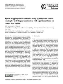 Spatial Mapping of Leaf Area Index Using... by Bulcock, H. H.