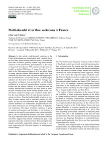 Multi-decadal River Flow Variations in F... by Boé, J.
