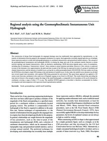 Regional Analysis Using the Geomorphocli... by Hall, M. J.