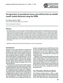 Incorporation of Groundwater Losses and ... by Moore, R. J.