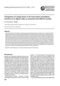 Comparison of Energy Fluxes at the Land ... by Grossi, G.