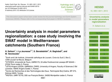 Uncertainty Analysis in Model Parameters... by Sellami, H.