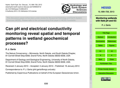 Can Ph and Electrical Conductivity Monit... by Gerla, P. J.