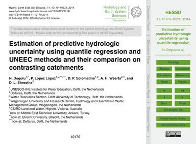 Estimation of Predictive Hydrologic Unce... by Dogulu, N.