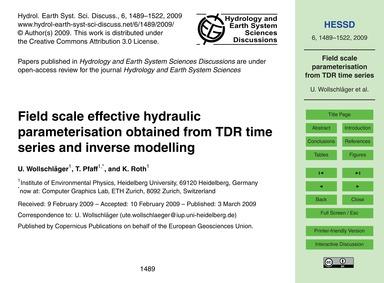 Field Scale Effective Hydraulic Paramete... by Wollschläger, U.
