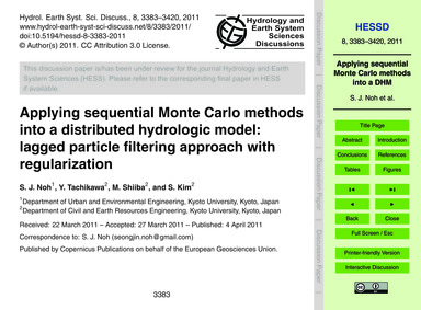 Applying Sequential Monte Carlo Methods ... by Noh, S. J.