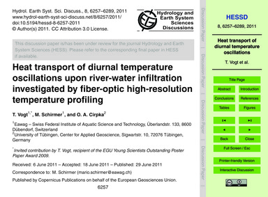 Heat Transport of Diurnal Temperature Os... by Vogt, T.