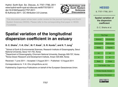 Spatial Variation of the Longitudinal Di... by Shaha, D. C.