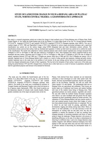 Study of Landcover Change in Yelwa-heipa... by Ogunmola, J. K.
