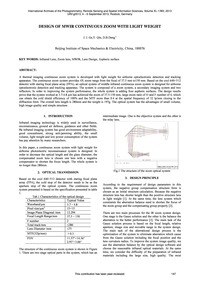 Design of Mwir Continuous Zoom with Ligh... by Ge, J. J.