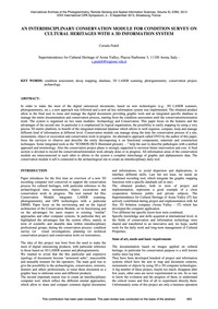 An Interdisciplinary Conservation Module... by Pedelì, C.