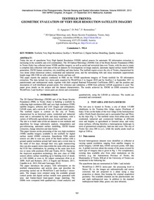 Testfield Trento: Geometric Evaluation o... by Agugiaro, G.