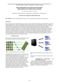 High Performance Photogrammetric Process... by Adrov, V. N.