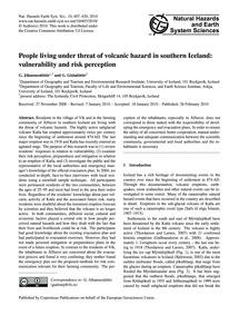 People Living Under Threat of Volcanic H... by Jóhannesdóttir, G.