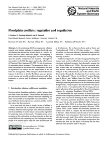 Floodplain Conflicts: Regulation and Neg... by Pardoe, J.
