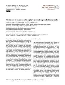 Medicanes in an Ocean–atmosphere Coupled... by Akhtar, N.